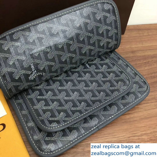 Goyard Plumet Clutch Bag with strap Gray