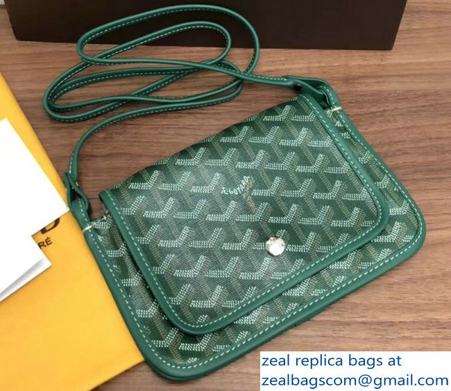 Goyard Plumet Clutch Bag with strap Green