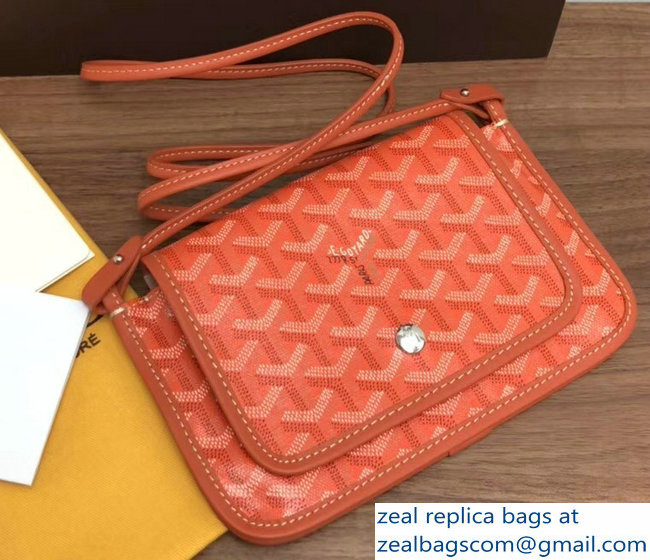 Goyard Plumet Clutch Bag with strap Orange