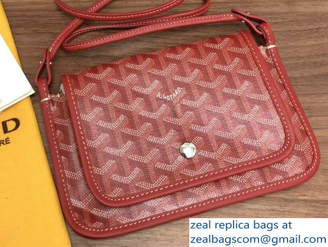 Goyard Plumet Clutch Bag with strap Red
