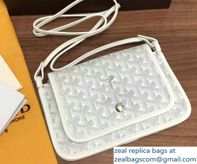 Goyard Plumet Clutch Bag with strap White