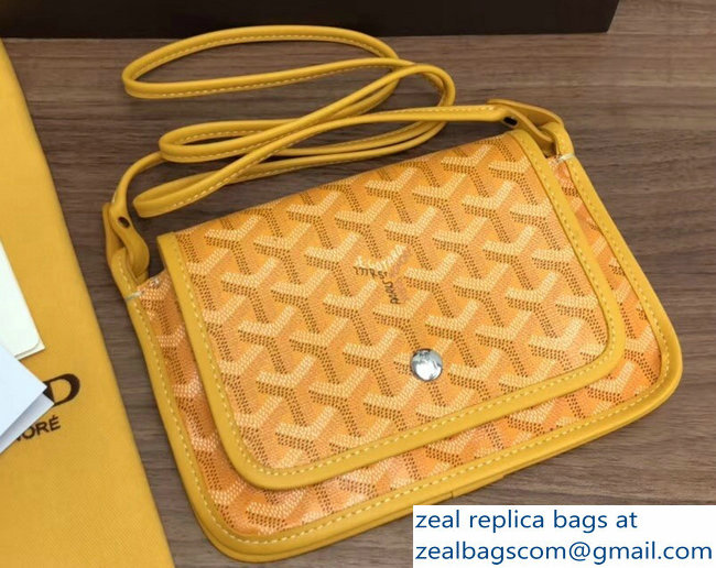 Goyard Plumet Clutch Bag with strap Yellow