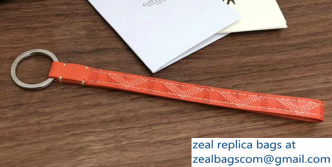 Goyard Sesame Key Strap Ring Wristlet Bag Charms Orange