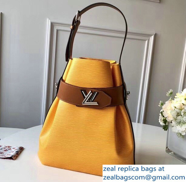 Louis Vuitton EPI Leather Bucket Shoulder Bag Yellow 2018/2019