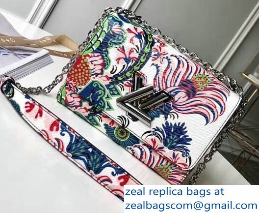 Louis Vuitton EPI Twist MM Bag Flower Print 2018