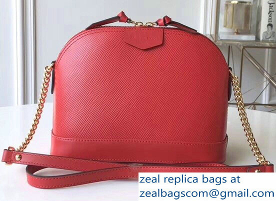 Louis Vuitton Epi Alma Mini Bag M51404 Coquelicot 2018