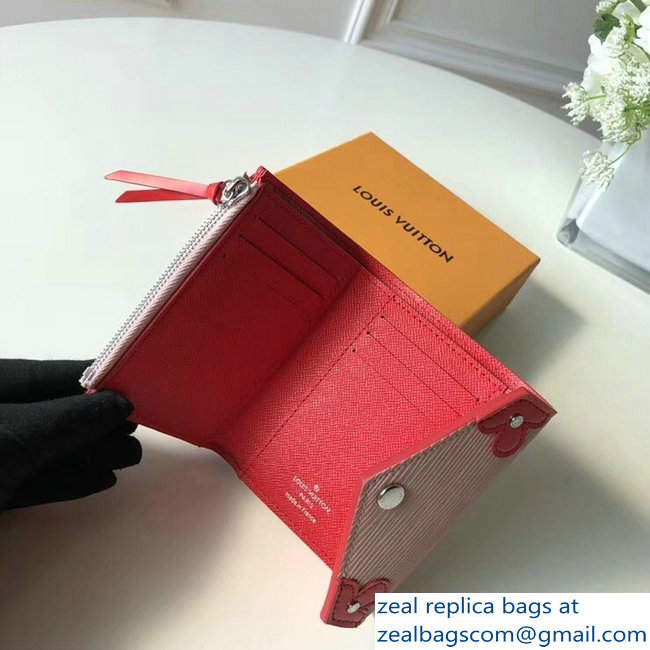 Louis Vuitton Epi Blooming Corners Victorine Wallet Rose Ballerine Coquelicot 2018