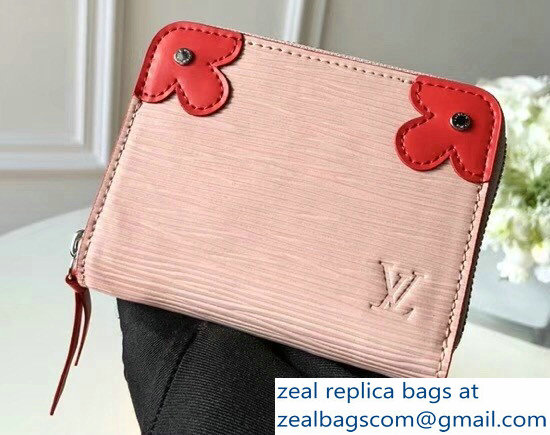 Louis Vuitton Epi Blooming Corners Zippy Coin Purse M62971 Rose Ballerine Coquelicot 2018