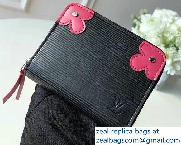 Louis Vuitton Epi Blooming Corners Zippy Coin Purse Noir 2018