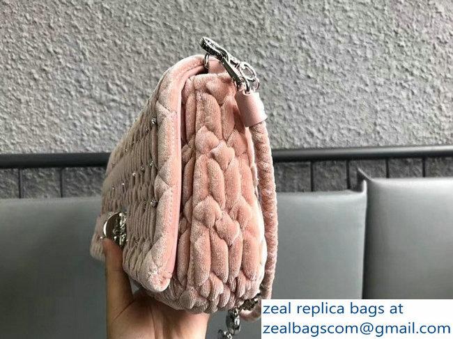 a8ad3a84f5a6 Miu Miu Cloque Velvet Crystal Shoulder Clutch Bag 5BD233 Pink   www ...