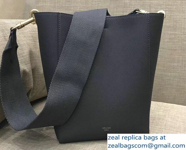 caf04e7a6e98 Celine Sangle Small Bucket Bag In Soft Grained Calfskin Gray   www ...