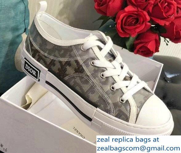 96e93450739c Dior Oblique Jacquard Canvas Low-Top Sneakers Brown 2018   www ...