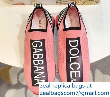 Dolce & Gabbana Branded Sorrento Lovers Sneakers Pink 2018
