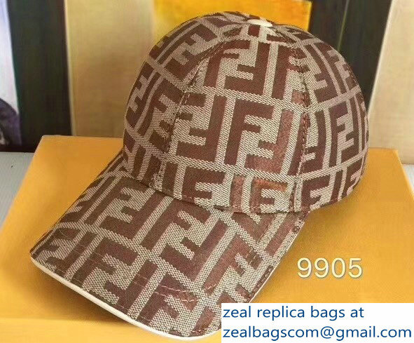 d4685a4e8cf Fendi FF Logo Print Baseball Cap Hat 08 2018
