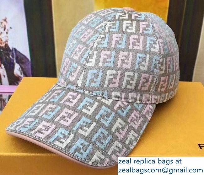 cb33ff359c8 Fendi FF Logo Print Baseball Cap Hat 09 2018   www.zealbag.ru