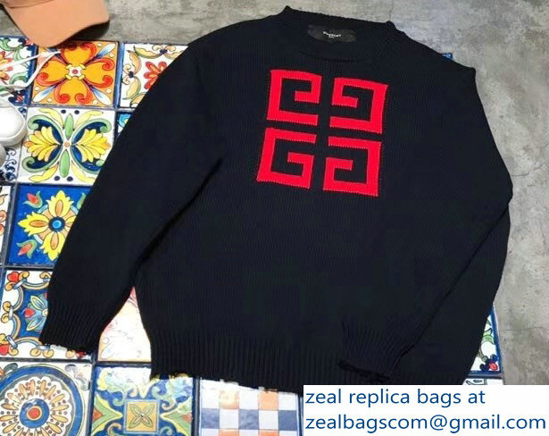 Givenchy Crew-neck 4G Sweater Black/White 2018