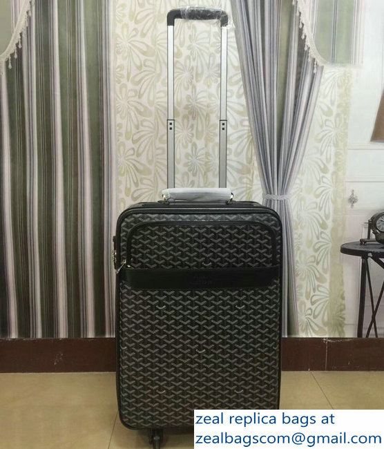 Goyard Trolley Travel Luggage Black