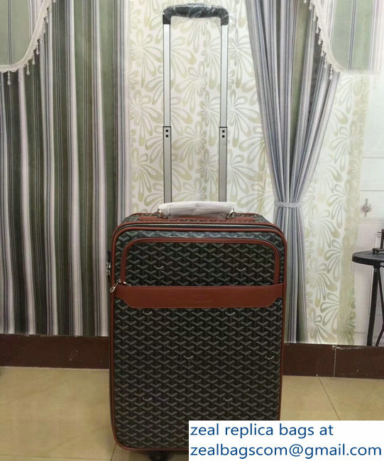 Goyard Trolley Travel Luggage Brown