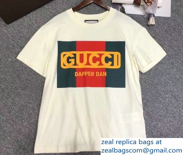 Gucci Gucci-Dapper Dan T-shirt White 2018