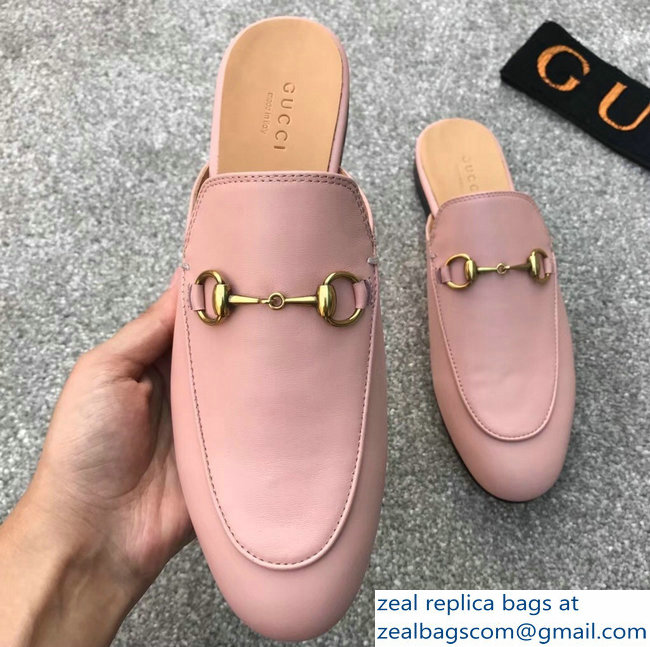 Gucci Princetown Horsebit Leather Slipper Pink