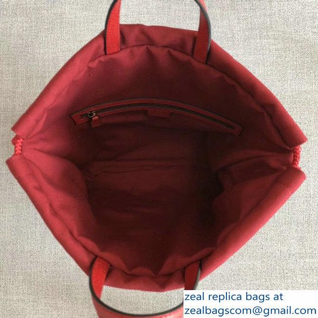 315d977e0d49 Gucci Sylvie Baiadera Striped Linen Canvas Vintage Logo Print Medium Drawstring  Backpack Bag 473872 2018