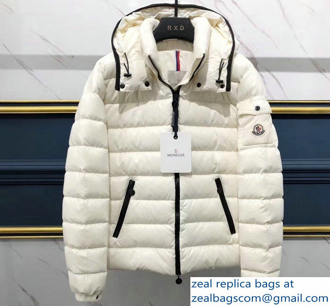 Moncler Down Jacket White with hat 2018