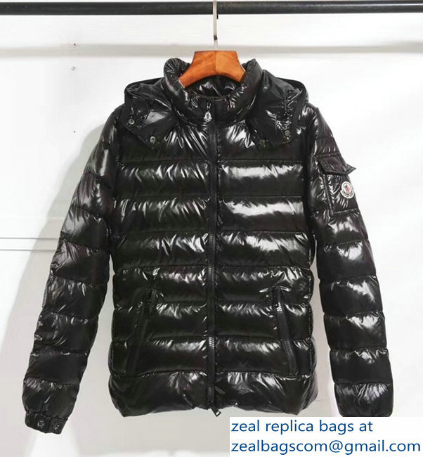 Moncler Down Jacket black with hat 2018