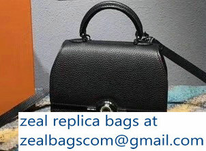 Moynat Mini Rejane BB Bag in Taurillon Gex Togo Leather Black