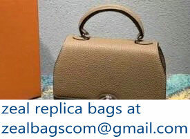 Moynat Mini Rejane BB Bag in Taurillon Gex Togo Leather Camel