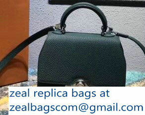 Moynat Mini Rejane BB Bag in Taurillon Gex Togo Leather Green