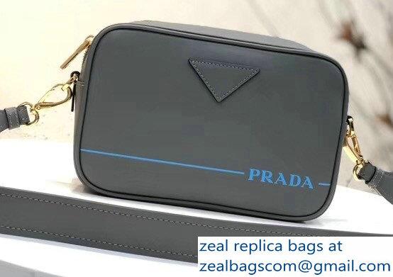 96af852a6f ... order prada mirage leather shoulder camera bag 1bh093 gray 2018 ed33f  bed18