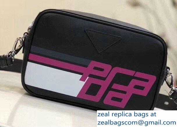 Prada Mirage Leather Shoulder Camera Bag 1BH093 Logo Black 2018 ... 5529a124cb241