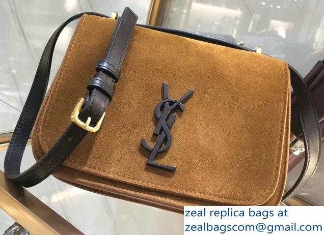 b94e48c586 Saint Laurent Spontini Small Satchel Bag 512853 Suede Brown 2018 ...