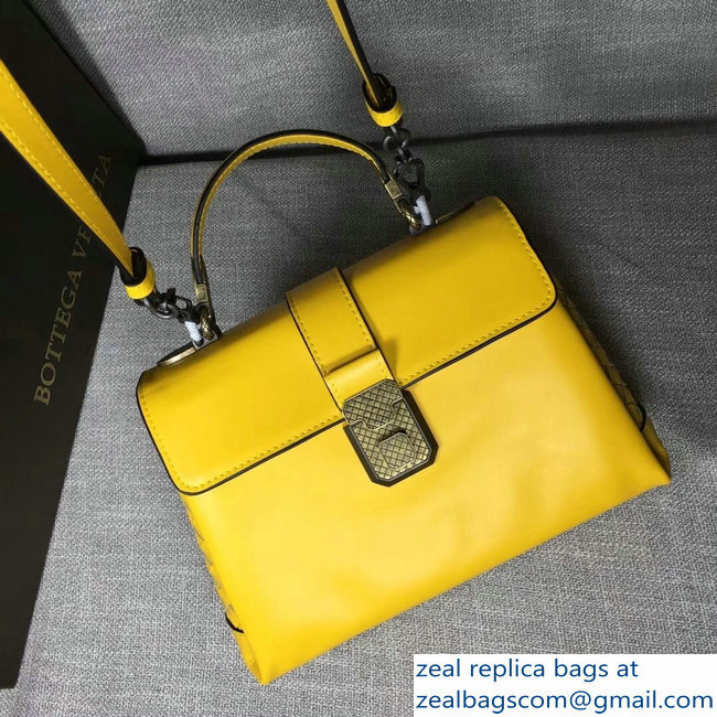 Bottega Veneta Calf Piazza Bag Yellow 2018 - Click Image to Close