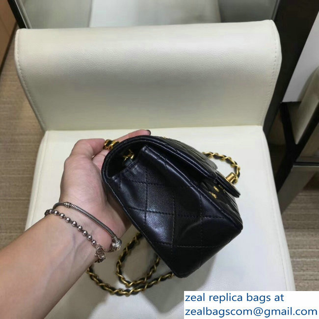 Chanel 18K Charms Mini Classic Flap Bag A69900 Black 2018   www ... 6e3a809fe9d9a