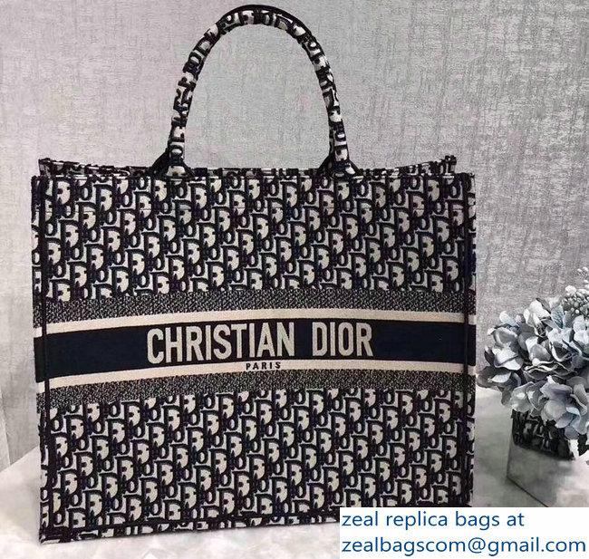 879e6939b300 Dior Book Tote Bag In Embroidered Dior Oblique Canvas 2018   www ...