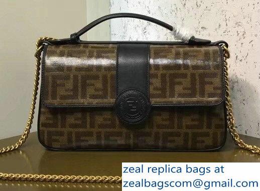 Fendi Multicolor Leather and Jacquard Fabric FF Double F Bag Black 2018 2efb3fa8b7b94