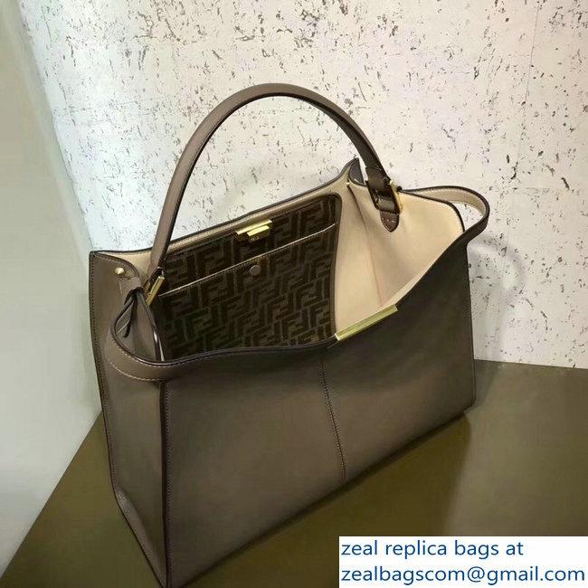 f0c56fd68b Fendi Peekaboo X-Lite Leather Bag FF Coffee 2018   www.zealbag.ru