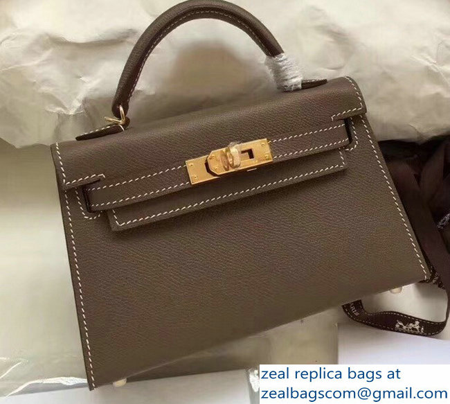 0236225c9f8d Hermes Kelly 20 Mini II Bag Original Epsom Leather Etoupe   www ...