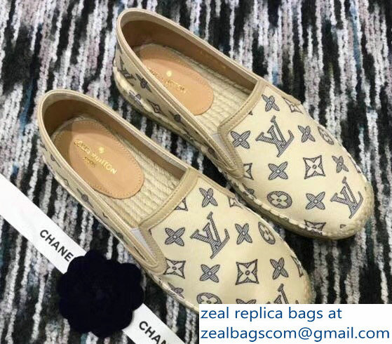 Louis Vuitton Bidart Espadrilles Printed Canvas Monogram Beige 2018