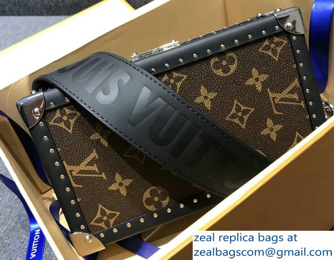 Louis Vuitton Monogram Canvas Trunk Box Petite Malle Shoulder Small Bag 2018
