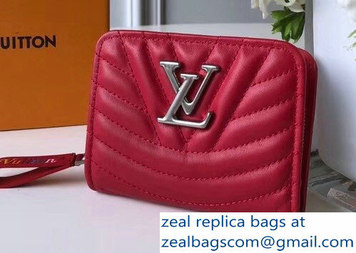 Louis Vuitton New Wave Zipped Compact Wallet M63790 Red 2018