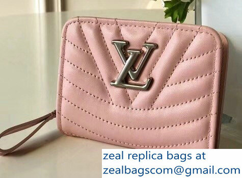 Louis Vuitton New Wave Zipped Compact Wallet M63791 Pink 2018