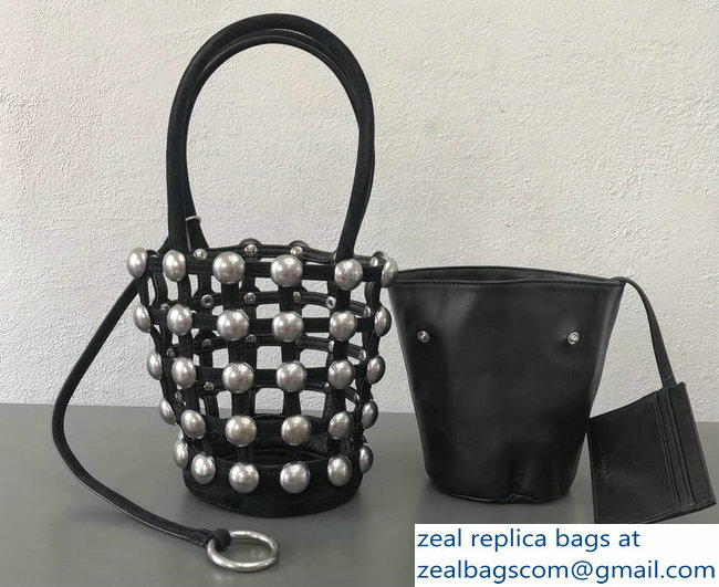 Alexander Wang Caged Roxy Bucket Bag Black 2018