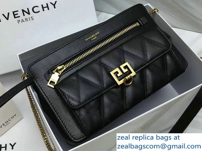 Givenchy Pocket Bag Black In Diamond Quilted Leather 2018