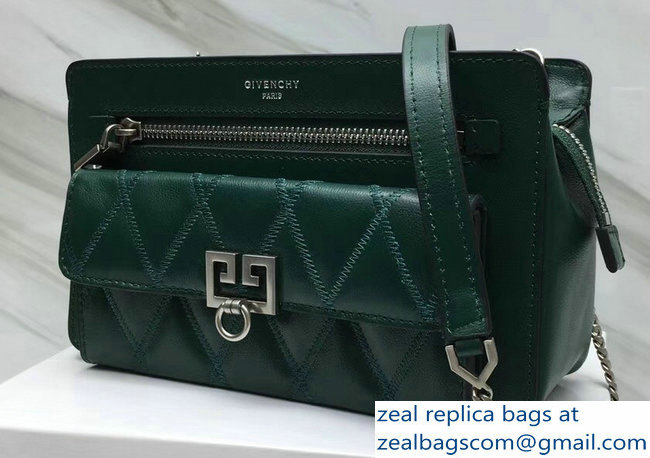 Givenchy Pocket Bag Green In Diamond Quilted Leather 2018