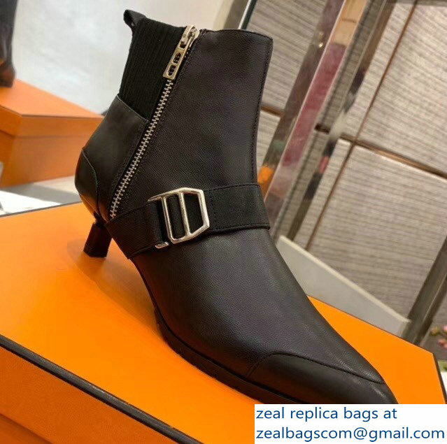 Hermes Shocky Ankle Boots Black 2018