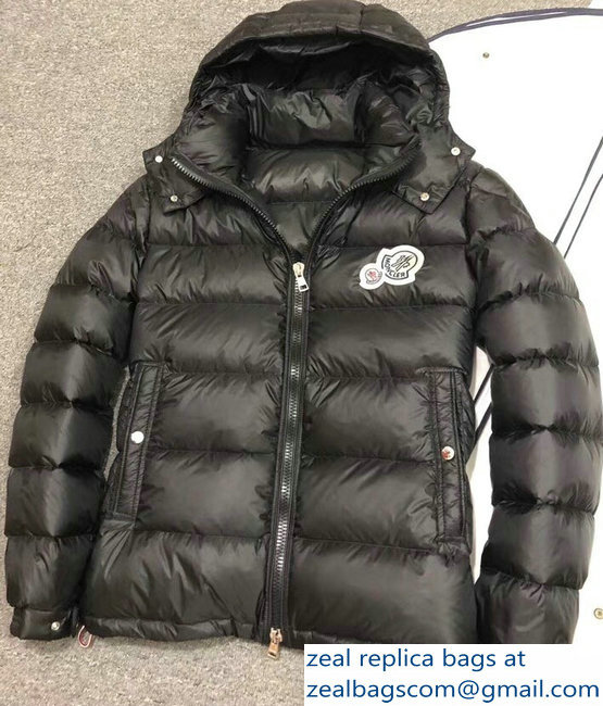 Moncler Down Jacket Black with Removable Hat 2018