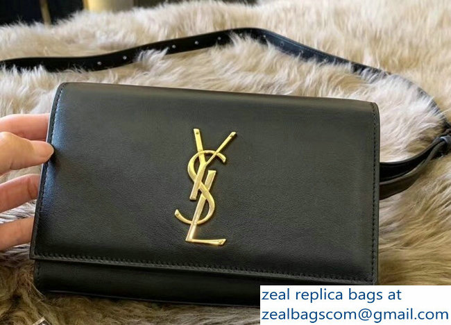 Saint Laurent Kate Belt Bag in Smooth Leather Black 534395 2018 ... a18e606847e1a