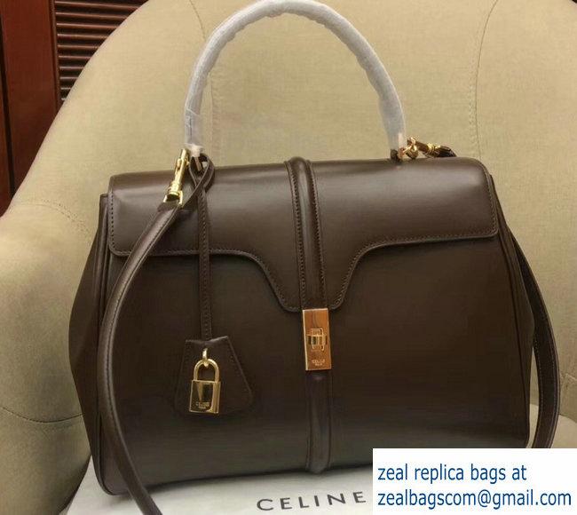 aea7da4283 Celine Calfskin Medium 16 Bag Coffee 187373 187374 2019   www.zealbag.ru